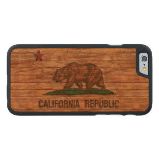 California Republic Flag Vintage Carved® Cherry iPhone 6 Slim Case