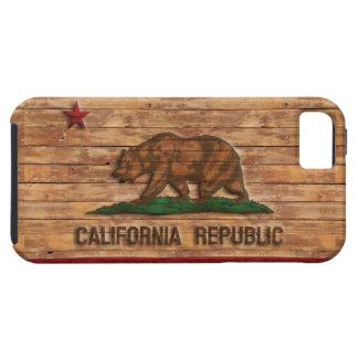 California Republic Flag Vintage Wood Design iPhone 5 Covers