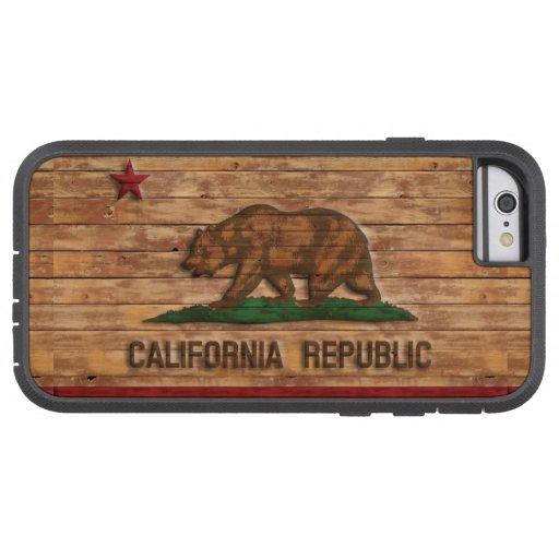 California Republic Flag Vintage Wood Design iPhone 6 Case