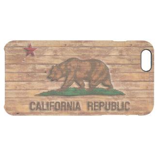 California Republic Flag Vintage Wood Design iPhone 6 Plus Case