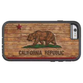 California Republic Flag Vintage Wood Design Tough Xtreme iPhone 6 Case
