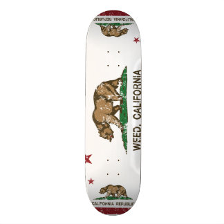 California Republic Flag Weed Custom Skate Board