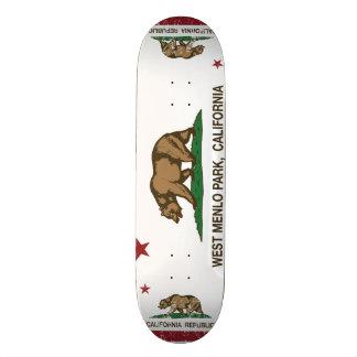 California Republic Flag West Menlo Park 20.6 Cm Skateboard Deck