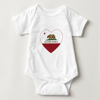 California Republic Heart Baby Bodysuit