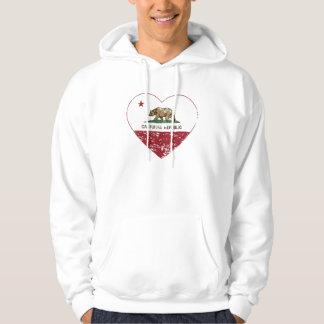 California Republic Heart Distressed Hoodie