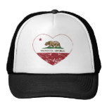 California Republic Heart Distressed Trucker Hat