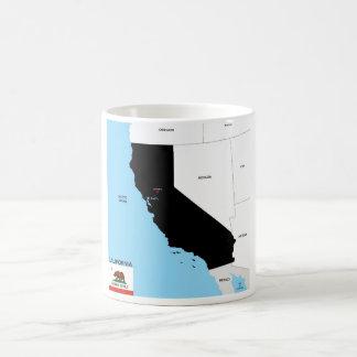 california republic map united states america flag mug