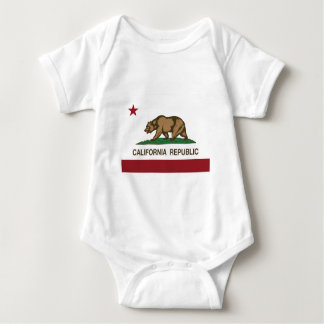 California Republic Official State Flag Baby Bodysuit