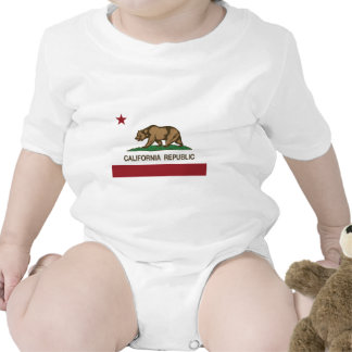 California Republic Official State Flag Baby Bodysuits