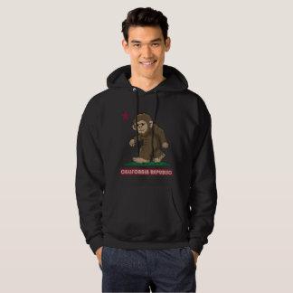 California Republic Sasquatch Bigfoot Flag Hoodie