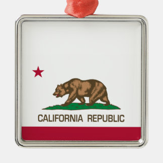 California Republic (State Flag) Christmas Ornament