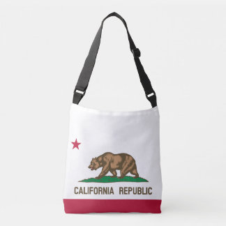 CALIFORNIA REPUBLIC state flag cross body bag