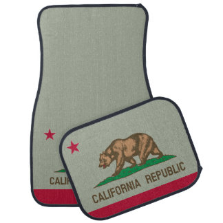 California Republic state flag custom car mat set