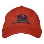 CALIFORNIA REPUBLIC State Flag Embroidered Cap