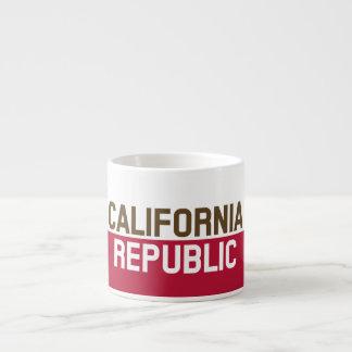 CALIFORNIA REPUBLIC State Flag Fitted Designs 6 Oz Ceramic Espresso Cup