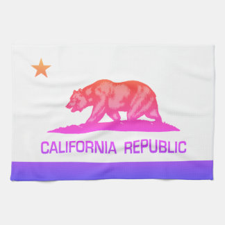 California Republic (State Flag) Ipanema Tea Towel