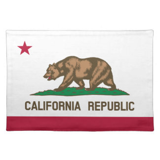 California Republic state flag placemats