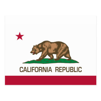 California Republic (State Flag) Postcard