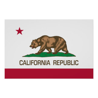 California Republic (State Flag) Poster