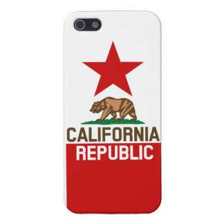 CALIFORNIA REPUBLIC State Flag Red Star Design iPhone 5 Covers
