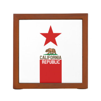 CALIFORNIA REPUBLIC State Flag Red Star Desk Organiser
