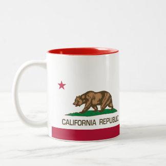 California Republic (State Flag) Red Two-Tone Coffee Mug