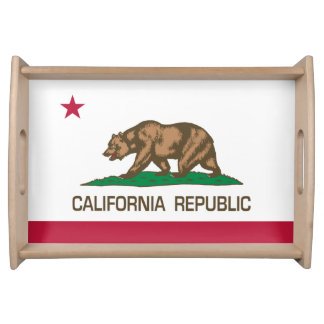 California Republic (State Flag) Serving Tray