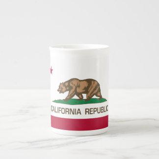 California Republic (State Flag) Bone China Mugs