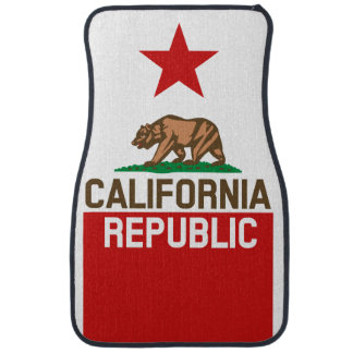 CALIFORNIA REPUBLIC State Flag Star Floor Mat