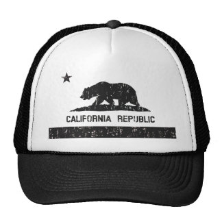 California Republic State Flag Trucker Hat (faded)