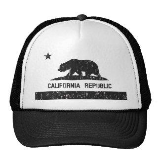 California Republic State Flag Trucker Hat faded