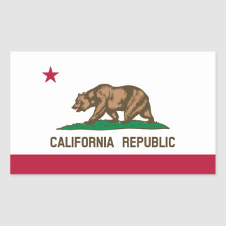 California Republic State Flag, United States Rectangular Sticker