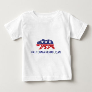 California Republican Bear Distressed Tshirt
