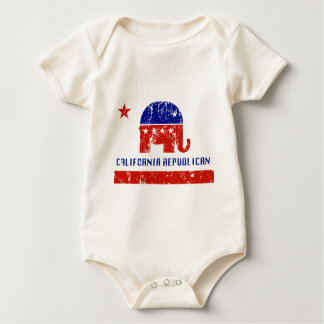 california republican distressed baby bodysuit