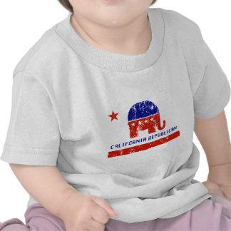 california republican distressed t-shirts
