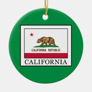 California Round Ceramic Decoration