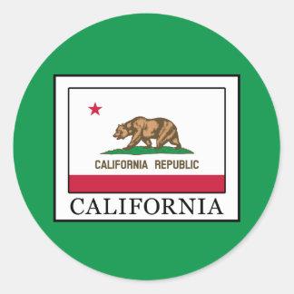 California Round Sticker