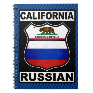 California Russian American Notepad Notebooks