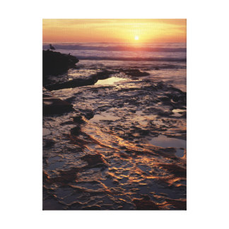 California, San Diego, La Jolla, Sunset over Canvas Print