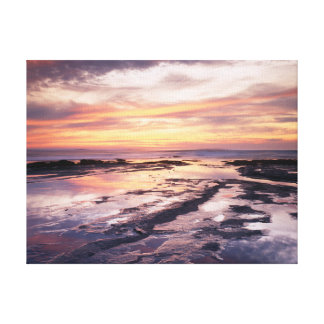 California, San Diego, Sunset Cliffs, Sunset 1 Canvas Print