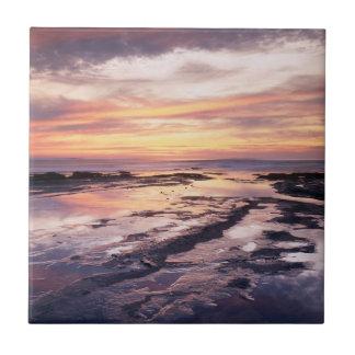 California, San Diego, Sunset Cliffs, Sunset 1 Tile