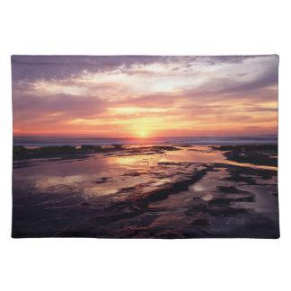 California, San Diego, Sunset Cliffs, Sunset 3 Placemat
