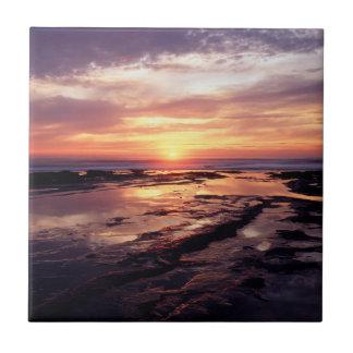 California, San Diego, Sunset Cliffs, Sunset 3 Tile