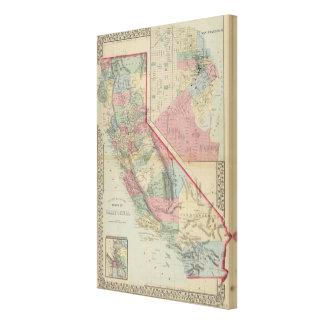 California, San Francisco Map by Mitchell Canvas Print