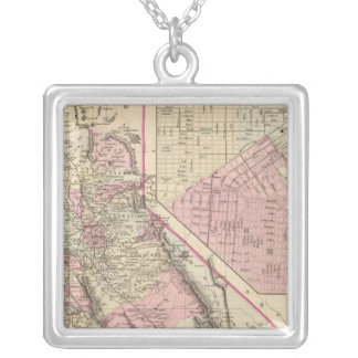 California, San Francisco Silver Plated Necklace