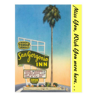 California, San Gorgonio Inn Postcard