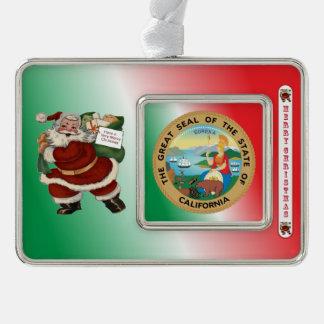California Santa Claus Christmas Ornament