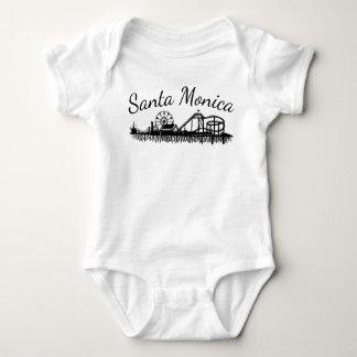 California Santa Monica Pier Illustrated Baby Bodysuit