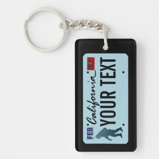 California Sasquatch License Plate Key Ring