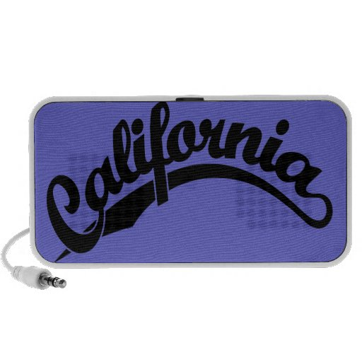 California Script logo in Black Mini Speakers
